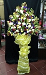 Golden Single Layer Flower Stand