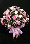 Pink And Light Purple Bouquet With Vase