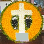 Yellow Standing Wreath