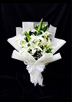 White Lily Hand Bouquet