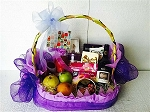 Gourmet Gift Basket ~ Purple