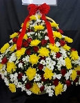 Yellow Chrysanthemum Basket