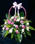 Baby Pink Flower Basket