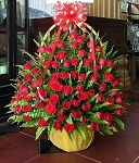 Red Roses Flower Basket