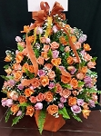 Orange Blossom Deluxe Flower Basket