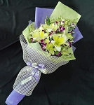 Purple Orchid And Lilies Bouquet