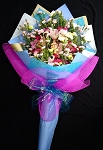 Purple And Blue Deluxe Bouquet