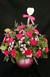 Mother's Day Carnation Bouquet With Vase