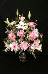 Mother's Day Daisy And Lily bouquet With Chalkboard Vase