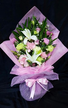 Pink Garden Flowers Bouquet