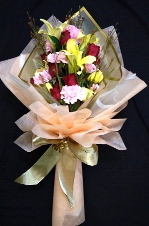 Lily Rose And Carnation Bouquet